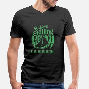 Sailing Club Sailor Sailing Sailor Sailing Sailing Club - Men's Organic V-Neck T-Shirt