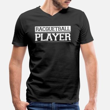 Coach Team Racquetball Racquetballer Racket Player - Men's Organic V-Neck T-Shirt