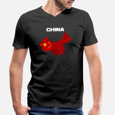 China China - Men's Organic V-Neck T-Shirt