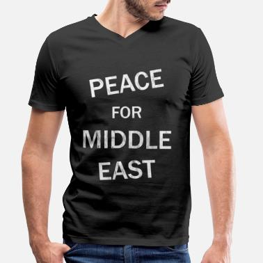 Middle East Peace middle east - Men's Organic V-Neck T-Shirt