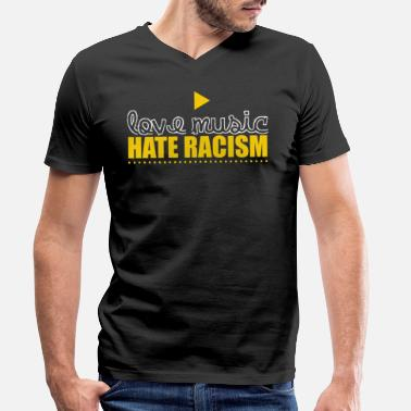 Anti Right Anti-racism Anti Against Racism Nazis Right - Men's Organic V-Neck T-Shirt by Stanley & Stella