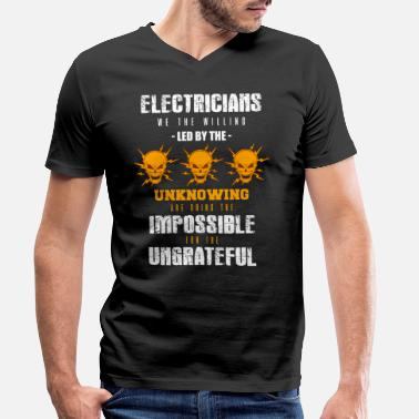 Electricity Electrician Electricity Electricity Electricity Gift - Men's Organic V-Neck T-Shirt by Stanley & Stella