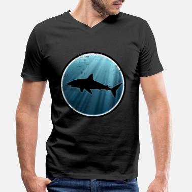 Great White Shark Great white shark great white shark - Men's Organic V-Neck T-Shirt