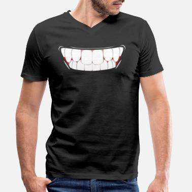 Big Smile Big Smile - Men's Organic V-Neck T-Shirt by Stanley & Stella