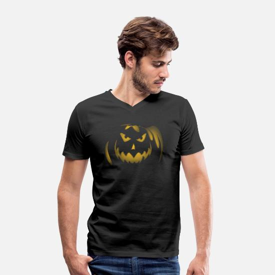 Lantern T-Shirts - trick or treating - Men's Organic V-Neck T-Shirt black