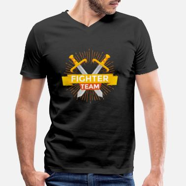 Swordfighter Swordfight Team T-Shirt & Gift - Men's Organic V-Neck T-Shirt