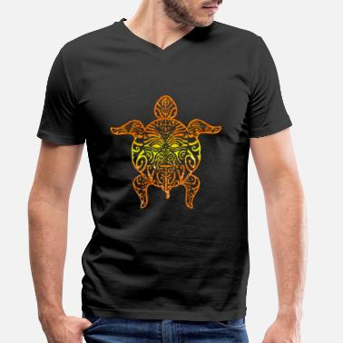 Maori Maori tattoo turtle - Men's Organic V-Neck T-Shirt