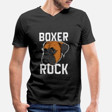 Hond Internationale Dog Day - Boxer Dog - Mannen V-hals bio T-shirt