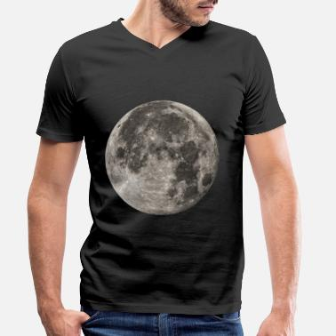 Moon Full Moon - Men's Organic V-Neck T-Shirt