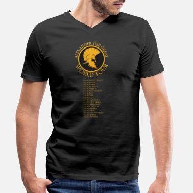 Ancient History Ancient History - Alexander The Great World Tour - Men's Organic V-Neck T-Shirt