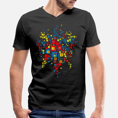 Abstract Hundertwasser world map abstract - Men's Organic V-Neck T-Shirt