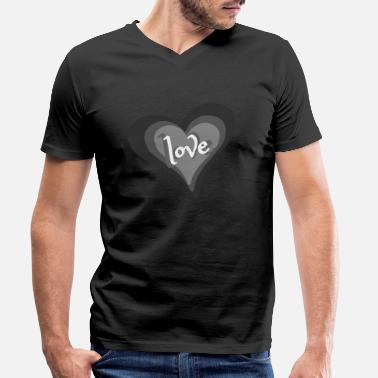 Love With Heart Love with Heart - Männer Bio T-Shirt mit V-Ausschnitt