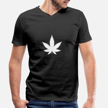 Hemp Canabis leaf, hemp leaf, marijuana - Men's Organic V-Neck T-Shirt