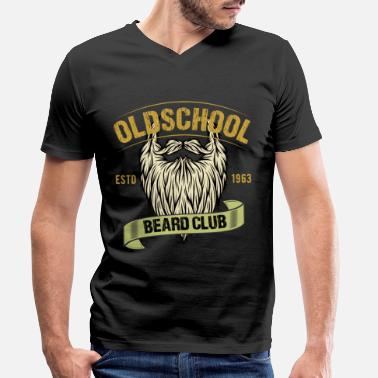 Beard Oldschool Beard Club - beard men gift - Men's Organic V-Neck T-Shirt