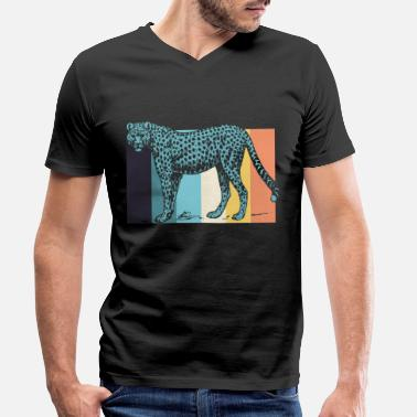 Cheetah Cheetah cheetahs - Men's Organic V-Neck T-Shirt