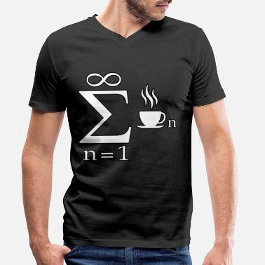 Engineer Jokes Mathematics engineer student gift joke coffee - Men's Organic V-Neck T-Shirt by Stanley & Stella