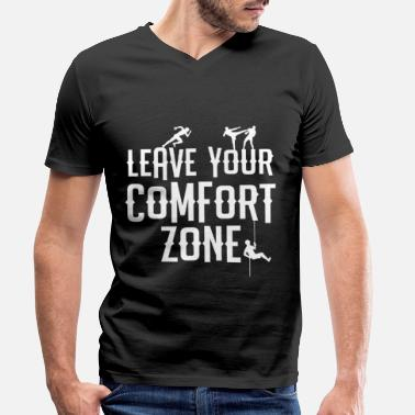 Leave Your Comfort Zone Leave Your Comfort Zone - Männer Bio T-Shirt mit V-Ausschnitt