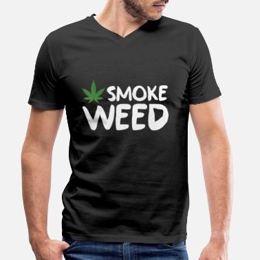 Smoke Weed Smoke Weed - Men's Organic V-Neck T-Shirt