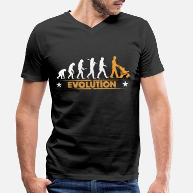 Evolution Walking Dad - Evolution - Maglietta con scollo a V uomo