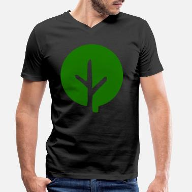 Change Tree gift nature leaf leaves forest gardener - Men's Organic V-Neck T-Shirt