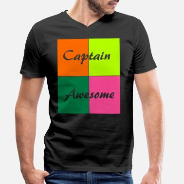 Awesome Captain Awesome - Men's Organic V-Neck T-Shirt