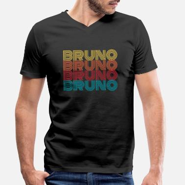 Name Day Bruno name name first name name day gift - Men's Organic V-Neck T-Shirt