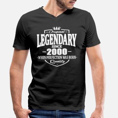 2000 Legendary sedan 2000 - T-shirt med V-ringning herr