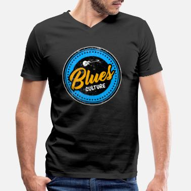 Blues Blues guitar guitarist musical instrument music - Men's Organic V-Neck T-Shirt