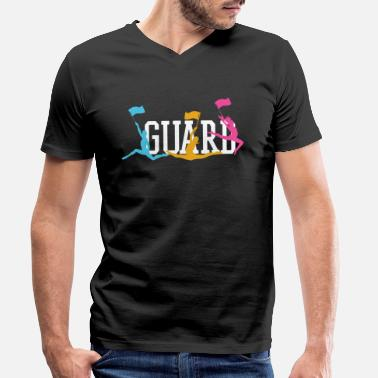 Läsa Guard Color Guard Marching Band - T-shirt med V-ringning herr