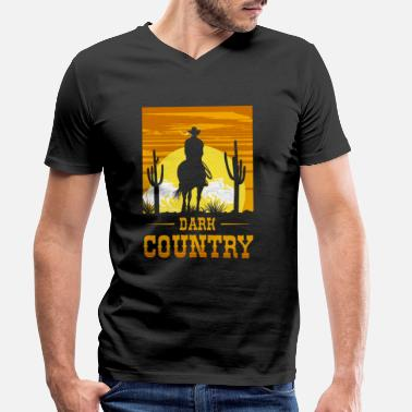 New Wave Dark Country, Dark Country Clubbers, Dark wave, - Männer Bio T-Shirt mit V-Ausschnitt