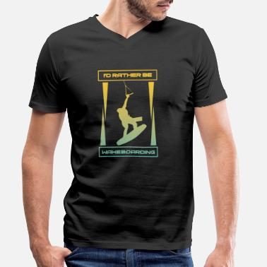 Wakeboard - Men's Organic V-Neck T-Shirt