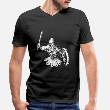 Spartan Spartan warrior - Men's Organic V-Neck T-Shirt