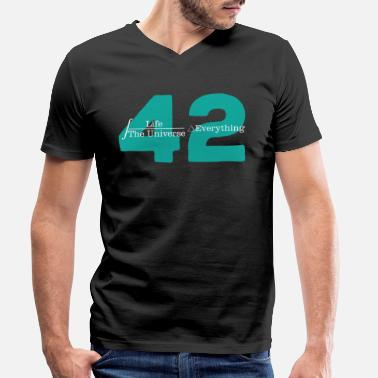 Hitchhikers Universe 42 The answer to life Cool - Men's Organic V-Neck T-Shirt by Stanley & Stella