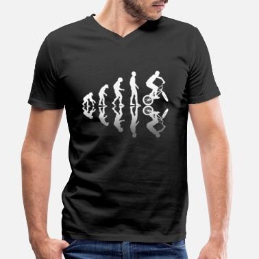 Bmx Evolution BMX Bicycle Bike - Men's Organic V-Neck T-Shirt
