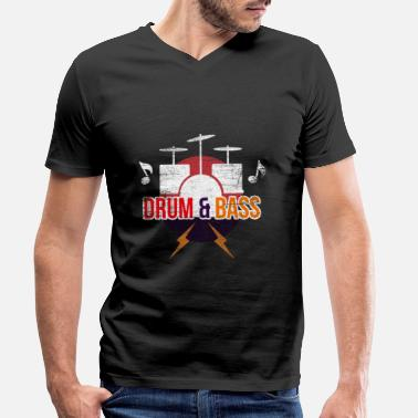 Drum And Bass Drum and Bass Musician - Camiseta con cuello de pico hombre