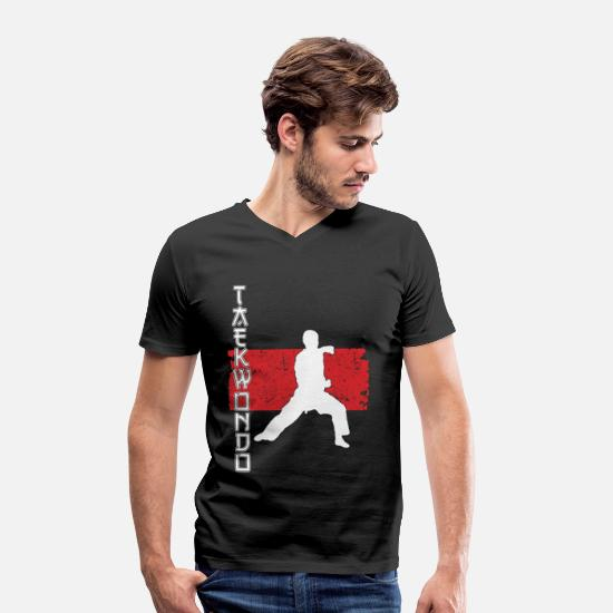 Asia T-Shirts - Martial Arts - Tae kwon do - Men's Organic V-Neck T-Shirt black