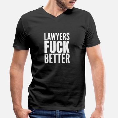 Fuck The Law Law student funny lawyer gift - Men's Organic V-Neck T-Shirt