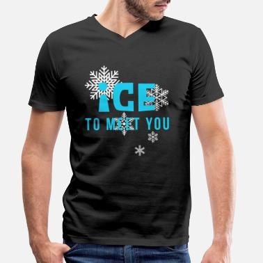 Meeting Ice To Meet You - Koszulka męska z dekoltem w serek