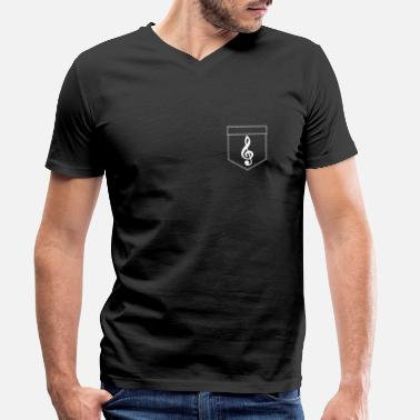 Chamber Music Breast pocket music! - Men's Organic V-Neck T-Shirt