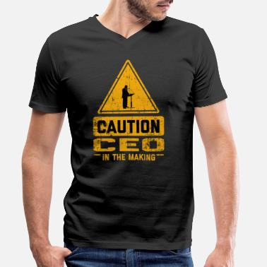 Ceo CAUTION Ceo In The Making - Men's Organic V-Neck T-Shirt