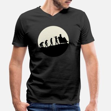 Evolution Therapists Evolution Moon - Men's Organic V-Neck T-Shirt