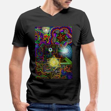 Colourful Psychedelic universe - Men's Organic V-Neck T-Shirt