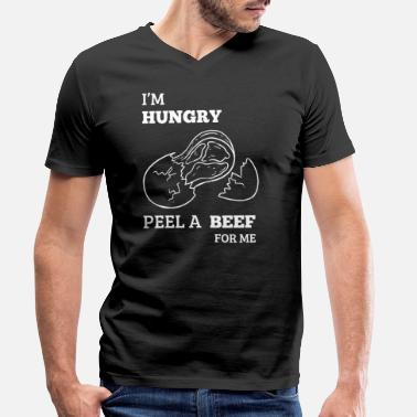 Grillking I'm Hungry Peel a Beef BBQ Sirloin Steak Potato - Men's Organic V-Neck T-Shirt by Stanley & Stella