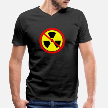 Castor Transport Anti nuclear power Castor nuclear power plants Gorleben demo - Men's Organic V-Neck T-Shirt