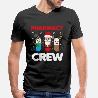 Crew Christmas Funny Pharmacy Crew Xmas Holiday Gift - Men's Organic V-Neck T-Shirt