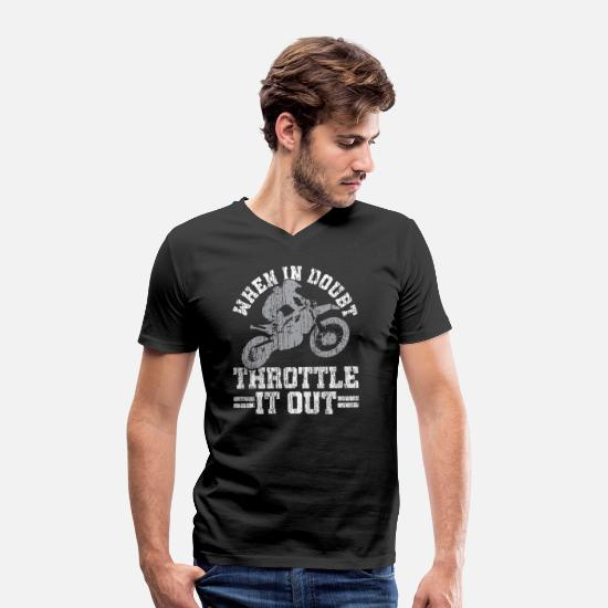 Motorcycle T-Shirts - Motocross - Men's Organic V-Neck T-Shirt black