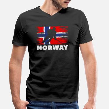 Norway sports winter sports - Men's Organic V-Neck T-Shirt