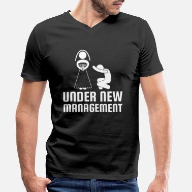Manager New management new management - Men's Organic V-Neck T-Shirt