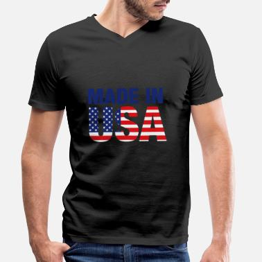 Made In Usa Made in USA - Men's Organic V-Neck T-Shirt