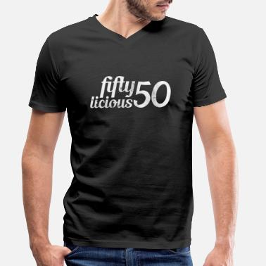 Birthday 50th birthday - Men's Organic V-Neck T-Shirt